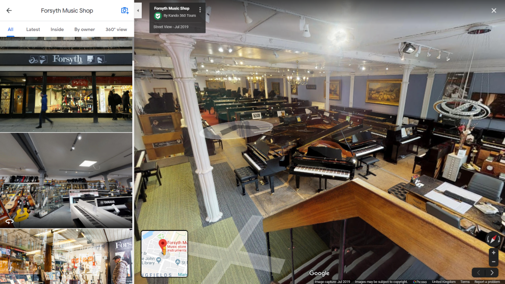 Forsyth Music Shop Google 360 Tour